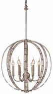 Trans Globe 10366-ASL Emporium Modern Anique Silver Leaf 20  Drop Lighting
