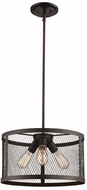 Trans Globe 10383-ROB Mist Contemporary Rubbed Oil Bronze 16  Ceiling Light Pendant