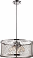 Trans Globe 10384-PC Mist Modern Polished Chrome Drum Drop Ceiling Lighting