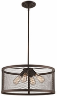 Trans Globe 10384-ROB Mist Contemporary Rubbed Oil Bronze 20  Drop Ceiling Light Fixture