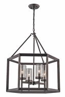 Trans Globe 10424-ROB Circuit Contemporary Rubbed Oil Bronze 20  Foyer Lighting
