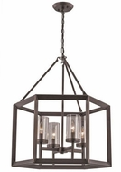 Trans Globe 10424-ROB Circuit Contemporary Rubbed Oil Bronze Drop Lighting Fixture