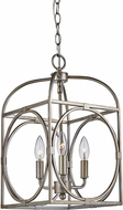 Trans Globe 10513-ASL Academy Contemporary Antique Silver Leaf 10  Foyer Light Fixture