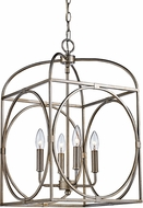 Trans Globe 10514-ASL Academy Contemporary Antique Silver Leaf 13.5  Entryway Light Fixture