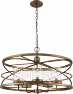 Trans Globe 10525-ASL Altadena Modern Antique Silver Leaf Drum Hanging Pendant Light