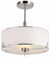 Trans Globe 1054-BN Cadence Brushed Nickel Drum Lighting Pendant