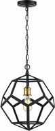 Trans Globe 10561-ROB Cyrus Contemporary Rubbed Oil Bronze 14  Pendant Lamp