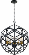 Trans Globe 10565-ROB Cyrus Modern Rubbed Oil Bronze 20.5  Hanging Lamp