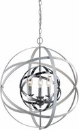 Trans Globe 10793-WH-PC Monrovia Modern White and Polished Chrome 22  Hanging Light Fixture