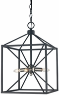 Trans Globe 10804-BN-BK Donovan Contemporary Brushed Nickel / Black 12  Foyer Lighting