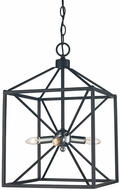Trans Globe 10804-PC-BK Donovan Modern Polished Chrome / Black 12  Foyer Light Fixture