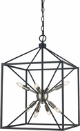 Trans Globe 10808-BN-BK Donovan Contemporary Brushed Nickel / Black 16  Foyer Lighting Fixture