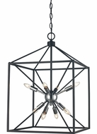Trans Globe 10808-PC-BK Donovan Modern Polished Chrome / Black 16  Entryway Light Fixture