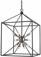 Trans Globe 10809-BN-BK Donovan Contemporary Brushed Nickel / Black 20  Foyer Lighting