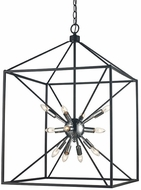 Trans Globe 10809-PC-BK Donovan Modern Polished Chrome / Black 20  Foyer Light Fixture