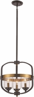 Trans Globe 10983-ROB-AG Contemporary Rubbed Oil Bronze/Antique Gold 16  Ceiling Pendant Light