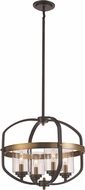 Trans Globe 10984-ROB-AG Modern Rubbed Oil Bronze/Antique Gold 17  Drop Ceiling Light Fixture