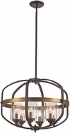 Trans Globe 10986-ROB-AG Contemporary Rubbed Oil Bronze/Antique Gold 24  Drop Lighting Fixture
