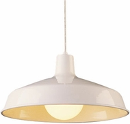 Trans Globe 1100-WH Sherman Modern White Lighting Pendant