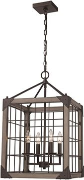 Trans Globe 11014-ROB Modern Rubbed Oil Bronze Entryway Light Fixture