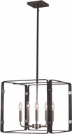 Trans Globe 11045-BK-BN Contemporary Black / Brushed Nickel 18  Drop Ceiling Light Fixture