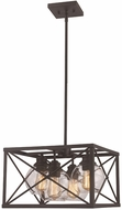 Trans Globe 11053-ROB Germain Contemporary Rubbed Oil Bronze 15  Hanging Lamp