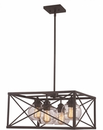 Trans Globe 11054-ROB Germain Contemporary Rubbed Oil Bronze 18  Pendant Light Fixture