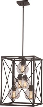 Trans Globe 11055-ROB Germain Contemporary Rubbed Oil Bronze Foyer Light Fixture