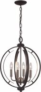 Trans Globe 11064-BK-BN Chesterfield Modern Black/Brushed Nickel 16  Pendant Light