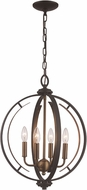 Trans Globe 11064-ROB-AG Chesterfield Contemporary Rubbed Oil Bronze / Antique Gold 16  Hanging Pendant Lighting