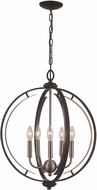 Trans Globe 11065-BK-BN Chesterfield Contemporary Black/Brushed Nickel 20  Pendant Lamp