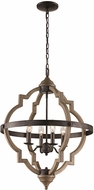 Trans Globe 11094-DBZ Dark Bronze 21.5  Hanging Pendant Lighting