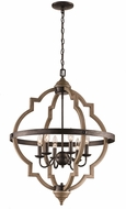Trans Globe 11096-DBZ Dark Bronze 24.5  Hanging Pendant Light