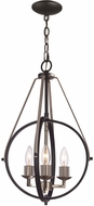Trans Globe 11173-BK-BN Modern Brushed Nickel 12  Lighting Pendant