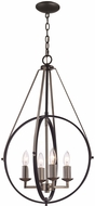 Trans Globe 11174-BK-BN Modern Brushed Nickel 16  Pendant Lamp