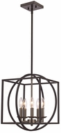 Trans Globe 11185-BN-BK Geometric Cage Modern Brushed Nickel/Black 16  Hanging Pendant Lighting