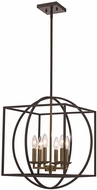 Trans Globe 11186-AG-BK Geometric Cage Modern Antique Gold/Black 20  Hanging Pendant Light