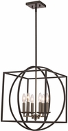 Trans Globe 11186-BN-BK Geometric Cage Contemporary Brushed Nickel/Black 20  Pendant Hanging Light