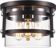 Trans Globe 14210-BK-PC Anderson Contemporary Black and Polished Chrome 12  Ceiling Lighting