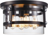 Trans Globe 14211-BK-PC Anderson Contemporary Black and Polished Chrome 14  Ceiling Light Fixture