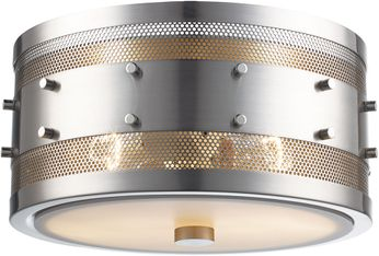 Trans Globe 14310-BN Column Contemporary Brushed Nickel 11 Ceiling Light Fixture