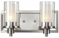 Trans Globe 20042 Odyssey Contemporary Brushed Nickel 2-Light Bathroom Lighting