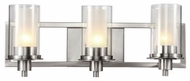 Trans Globe 20043 Odyssey Contemporary Brushed Nickel 3-Light Lighting For Bathroom