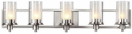 Trans Globe 20045 Odyssey Contemporary Brushed Nickel 5-Light Bathroom Light
