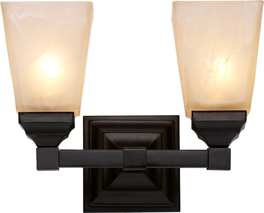 Trans Globe 20332 Bk Mission Bath Black 2 Light Bathroom Lighting