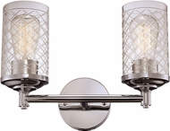 Trans Globe 20472-PC Lucille Modern Polished Chrome 2-Light Bathroom Lighting