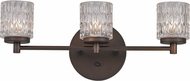 Trans Globe 20493-ROB Bayou Modern Rubbed Oil Bronze Halogen 3-Light Bathroom Lighting Fixture