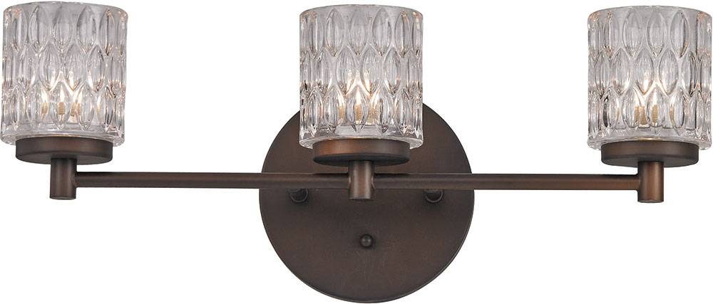 Trans Globe 20493 Rob Bayou Modern Rubbed Oil Bronze Halogen 3 Light Bathroom Lighting Loading Zoom
