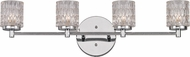Trans Globe 20494-PC Bayou Contemporary Polished Chrome Halogen 4-Light Vanity Lighting