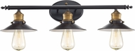 Trans Globe 20513-ROB Griswald Modern Rubbed Oil Bronze 3-Light Bathroom Vanity Lighting